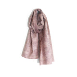 Japanese Wool Scarf in Pink boro