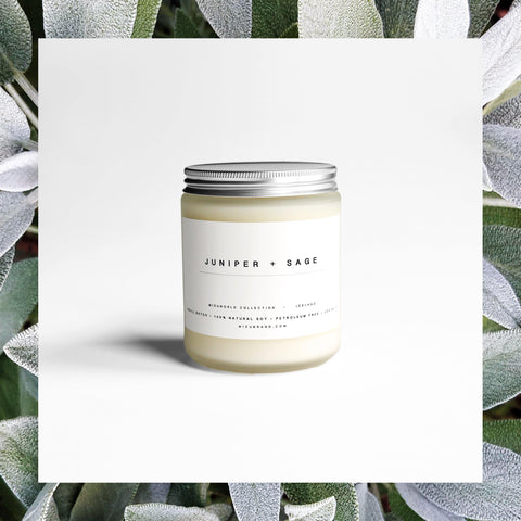 MIZU BRAND Juniper and sage essential oil candle