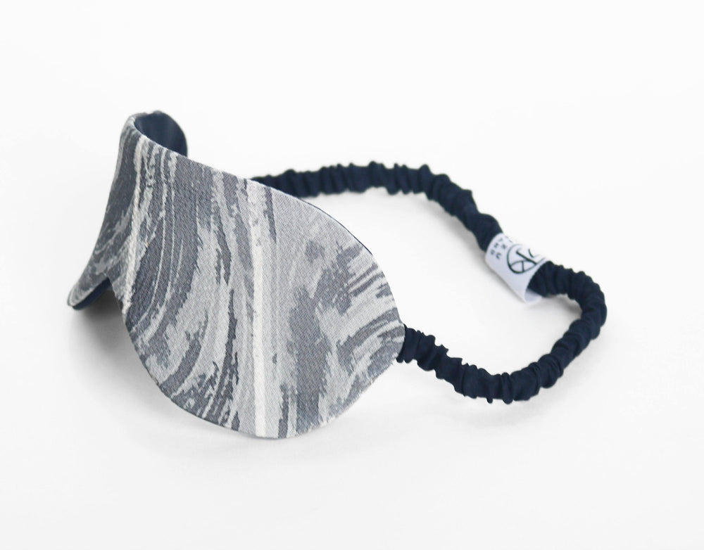 Japanese Marble Silk Eye Mask Side View
