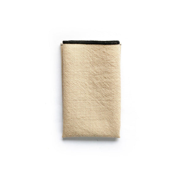 Japanese wool Kunst Pocket Square fold look