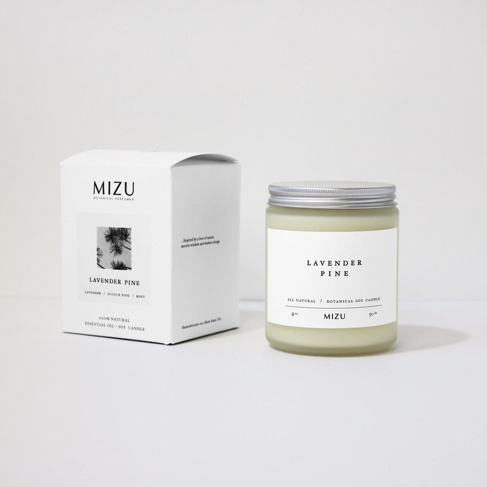 Lavender Pine Essential Oil Candle - MIZU