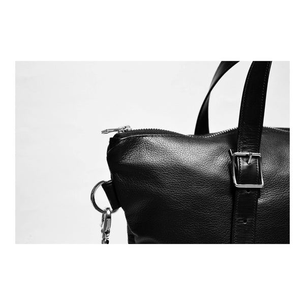 Crossbody Tote in Italian Leather hardware