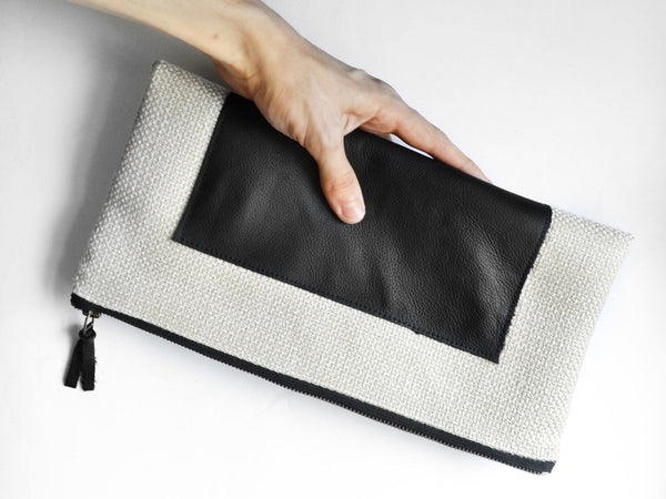 Leather Sketch Clutch