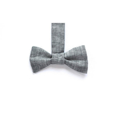 Linen Bow Tie in Sparrows Chambray