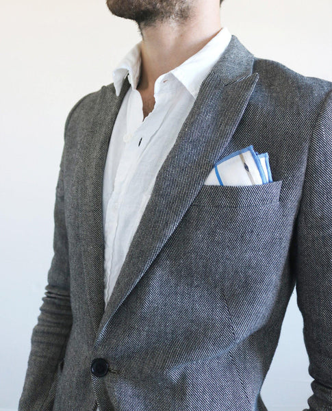 Lung-Ta Reversible Cotton Pocket Square