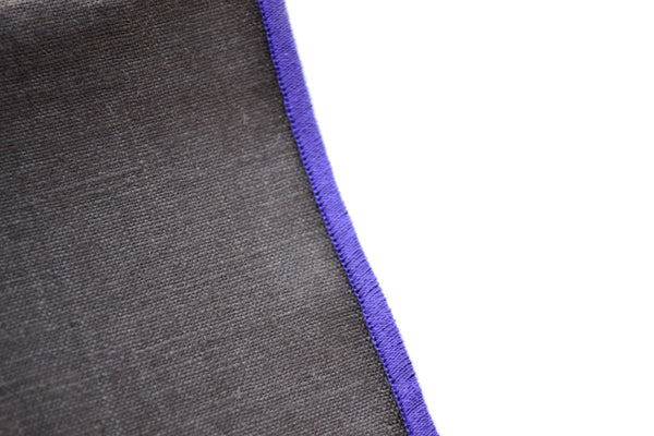 Linen Pocket Square in Crocus Bloom