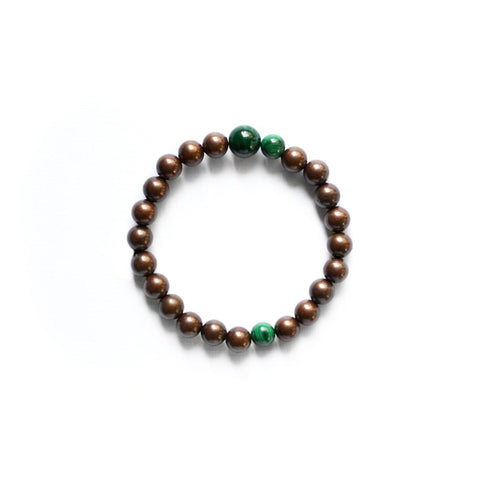 Malachite and Copper Stretch Bracelet