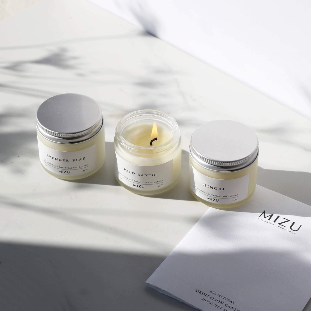 MIZU Essential Oil Candle Luxury Gift Set