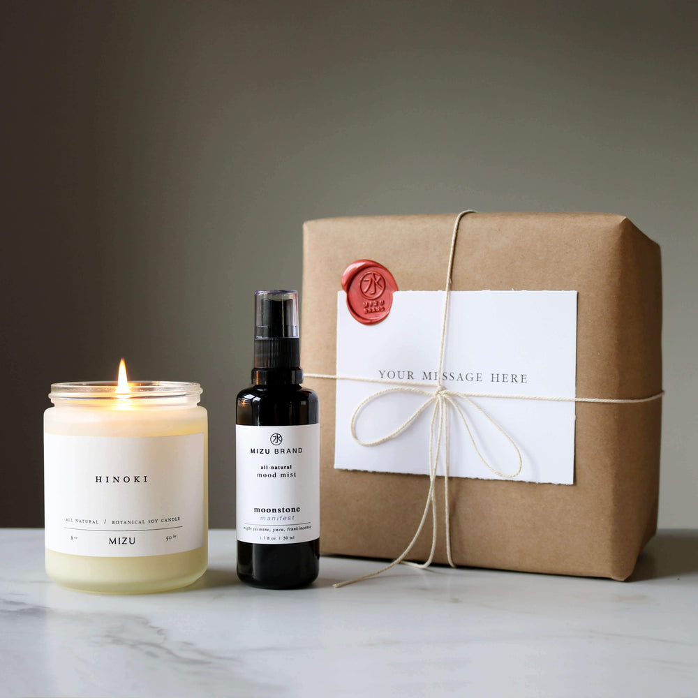 MIZU Calm Gift Set Candle and Room Mist