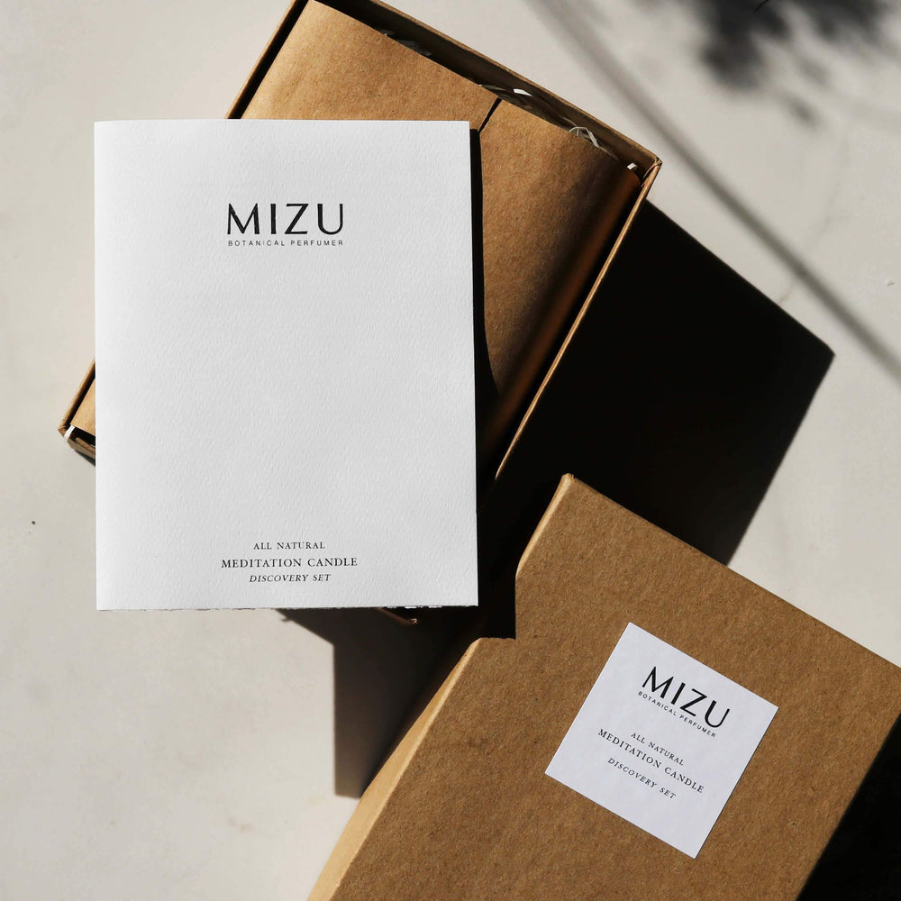 MIZU essential oil candle gift set