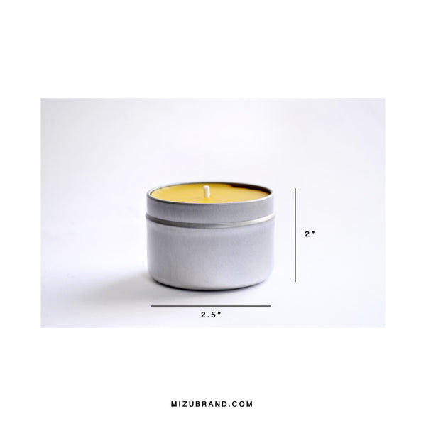 100% Beeswax Travel Candle / CYPRUS + SAGE