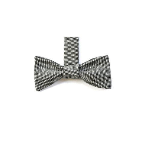Merino Wool Bow Tie in White Nailhead