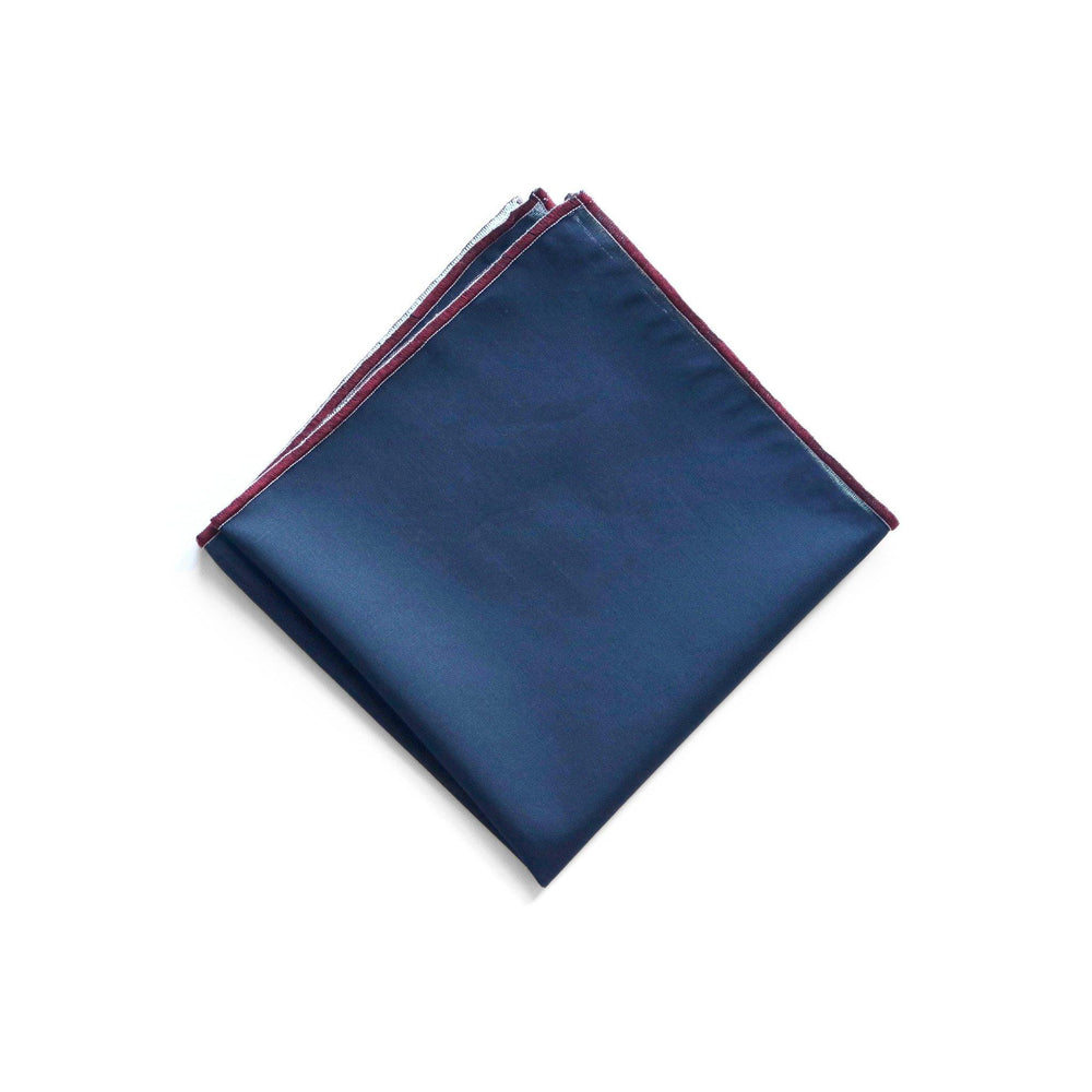 NAMSTO NAVY COTTON POCKET SQUARE thumbnail