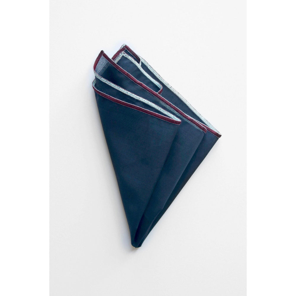 NAMSTO NAVY COTTON POCKET SQUARElook