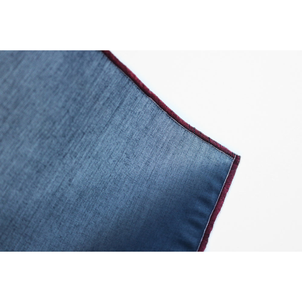 NAMSTO NAVY COTTON POCKET SQUARE sheer detail