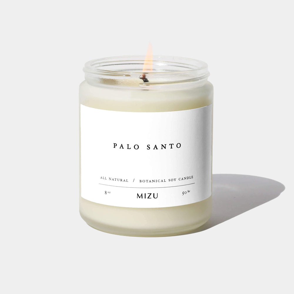 MIZU PALO SANTO ESSENTIAL OIL CANDLE