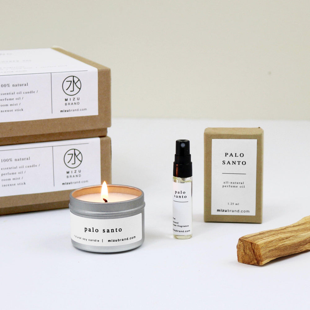 Palo Santo Essential Oil Candle Boxed Gift Set