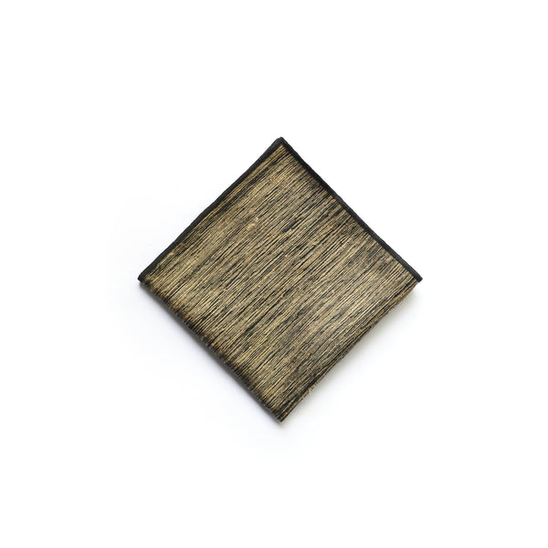 Wild Silk Pocket Square in Wood Thumbnail