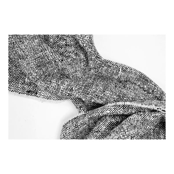 Raw Silk Scarf in GRANITE