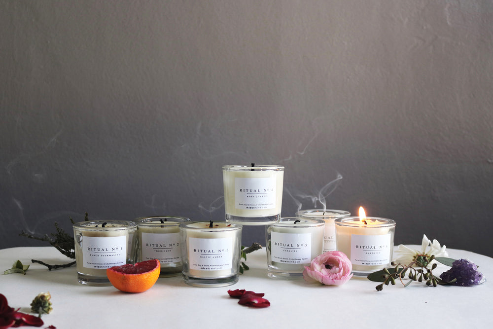 RITUAL Chakra Soy Candle Aromatherapy Full Collection