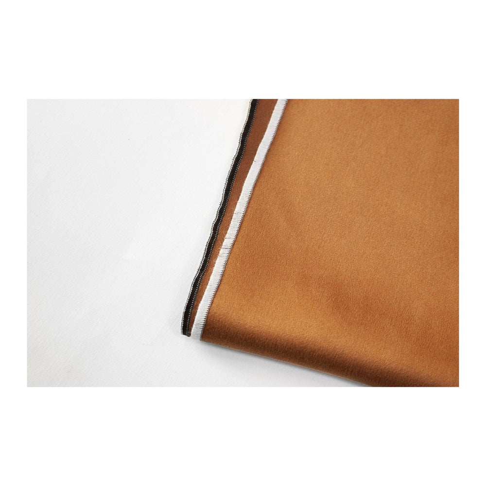 brown Silk Charmeuse Pocket Square look