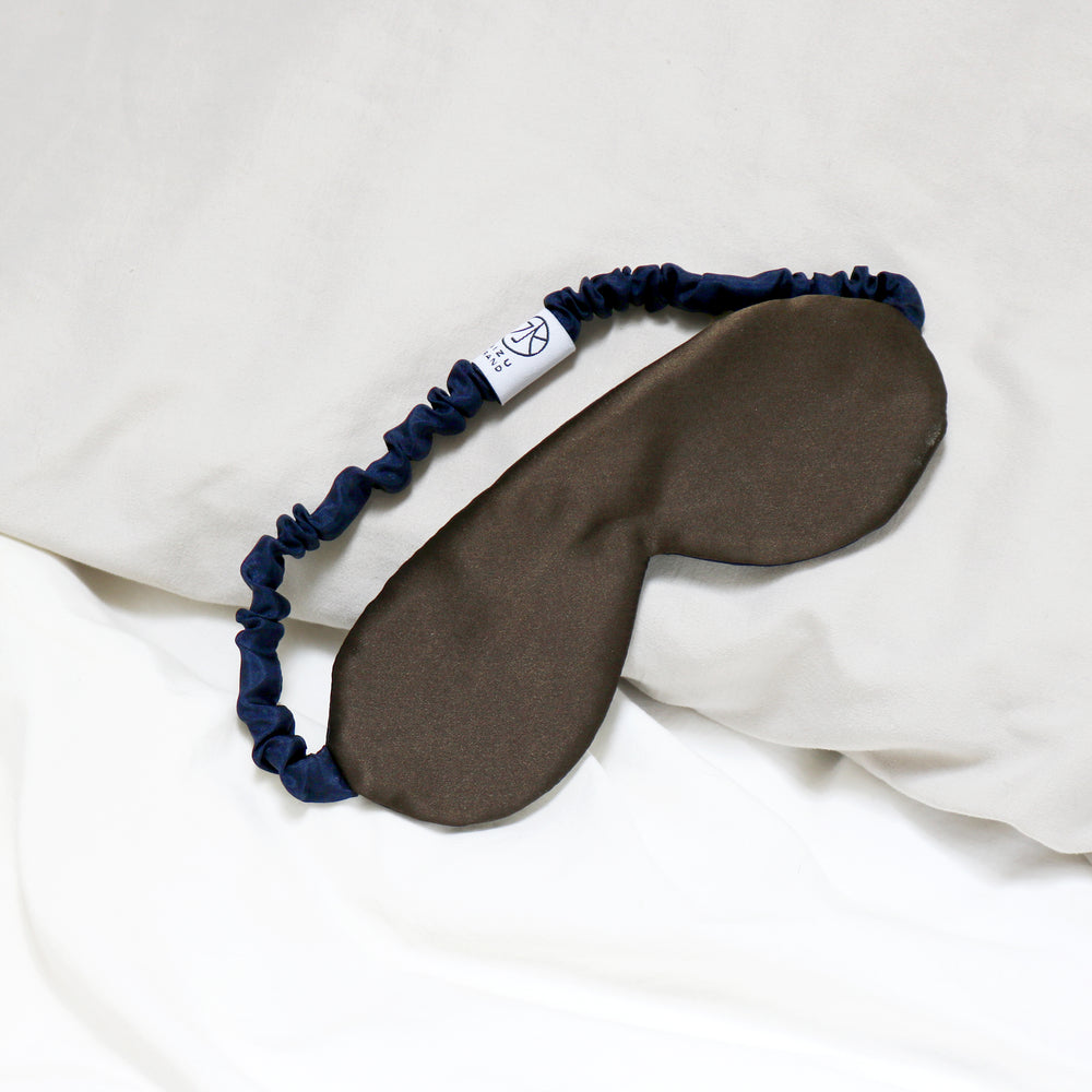 Silk Charmeuse Eye Mask in Danish Blue