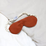 Silk Charmeuse Eye Mask in Burnt Orange