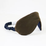 Sleep Mask in Danish Blue Silk Charmeuse Back Detail