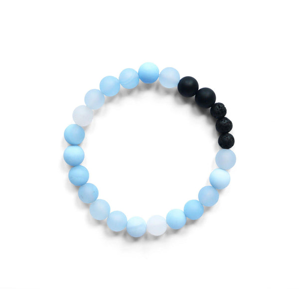 Blue Chalcedony Stretch Bracelet thumbnail