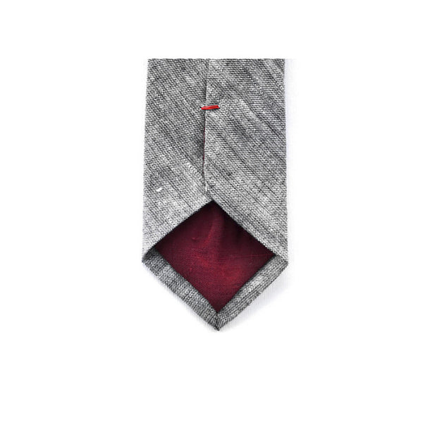 crosshatch chambray necktie detail