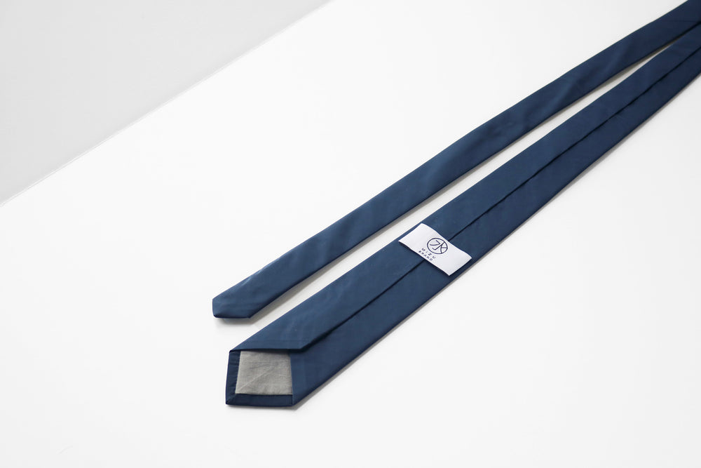 Tactical Nylon necktie in navy brand label