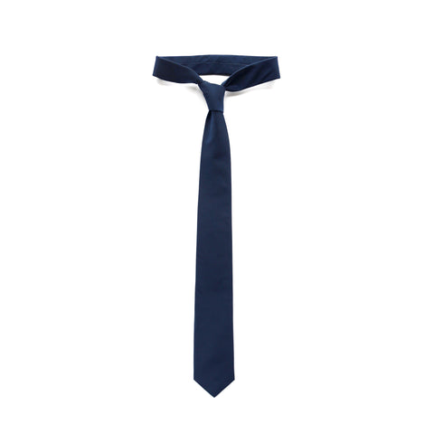 Tactical Nylon necktie in navy thumbnail