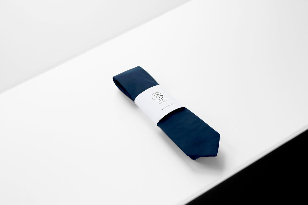 Tactical Nylon necktie in navy wholesale packaging