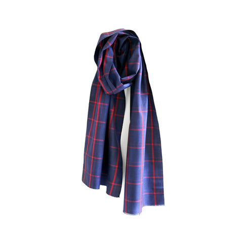 Cinnabar Plaid Japanese Silk Scarf  thumbnail 2