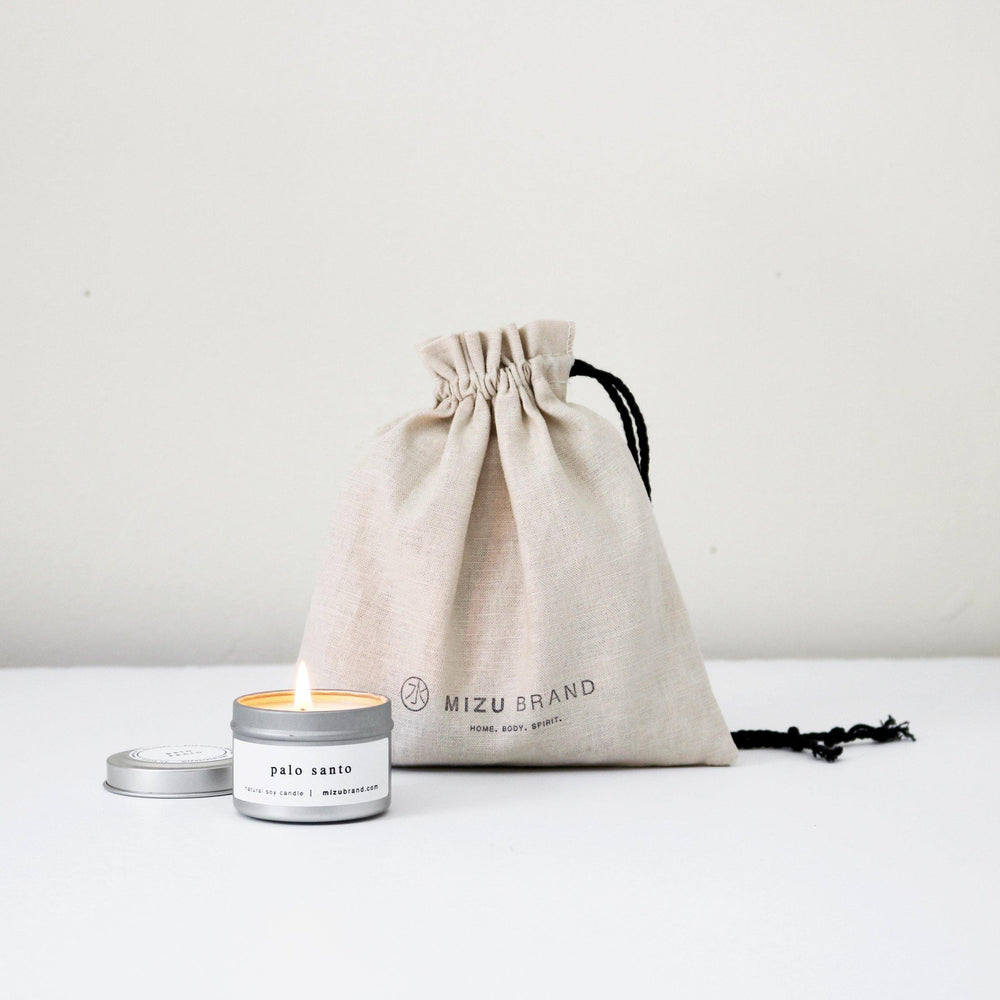 MIZU brand Create your own natural soy candle discovery sample kit