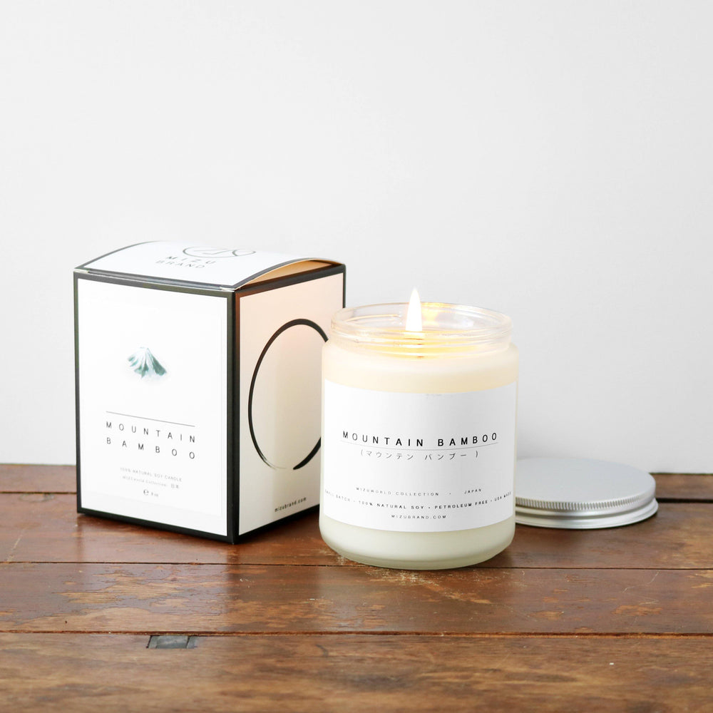Blackberry and Pine  Minimalist Natural Soy Candle Boxed Design