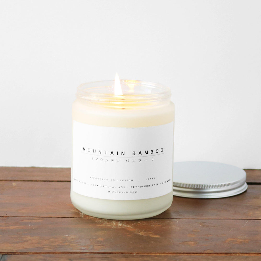 Mountain Bamboo Natural Soy Candle Minimal Design