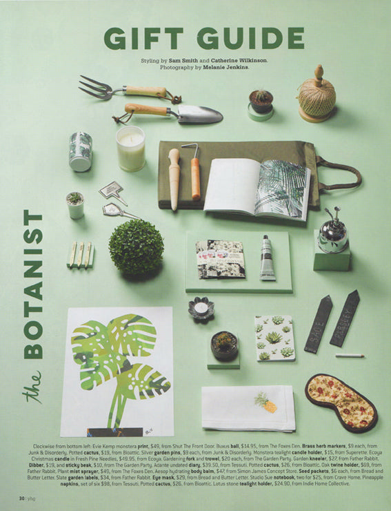 Your Home and Garden Gift Guide, Studio Sue, Succulent Notebook
