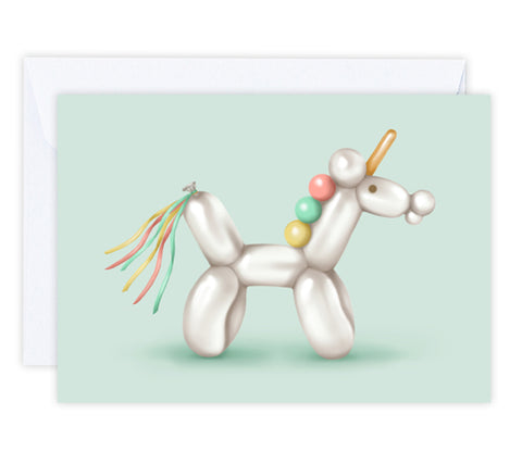 Bubbles the Unicorn Greeting Card
