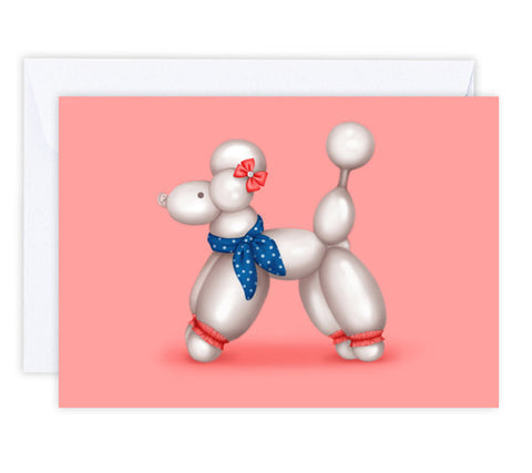 Polly the Poodle Greeting Card