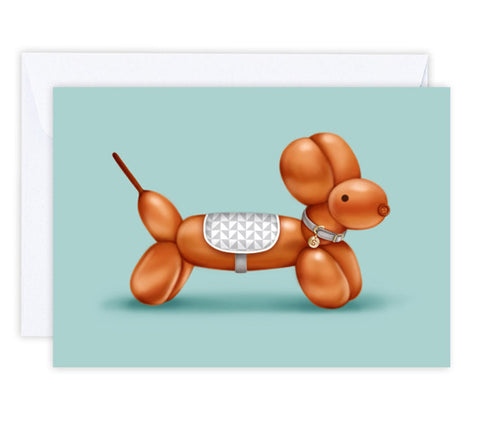 Sammy the Sausage Dog Greeting Card