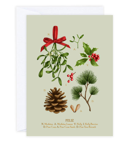 Christmas Botanicals Greeting Card
