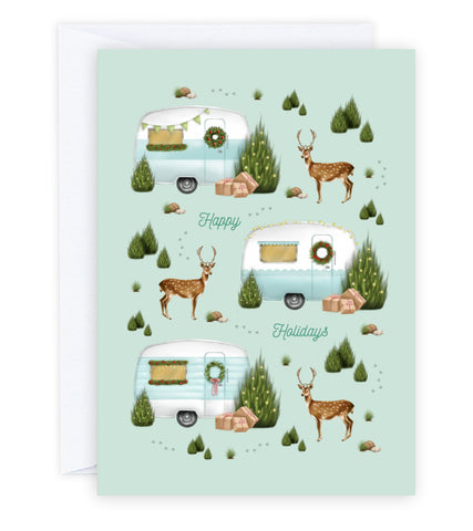 Christmas Caravans Greeting Card