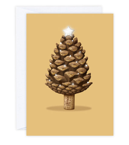 Christmas Pinecone Tree Greeting Card