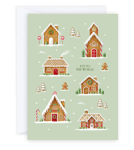 Gingerbread Village Greeting Card