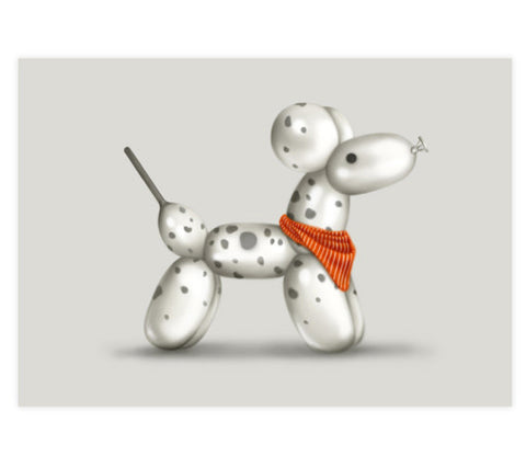 Domino the Dalmatian Art Print