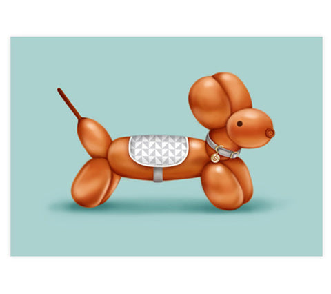 Sammy the Sausage Dog Art Print