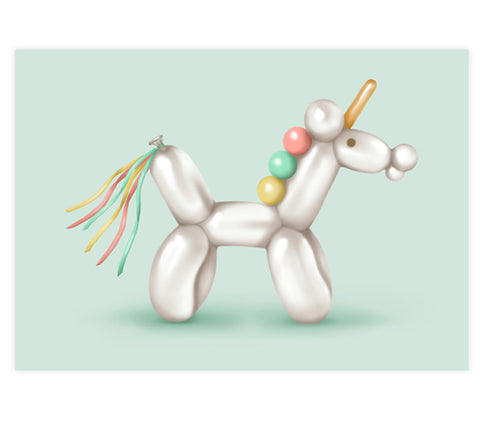 Bubbles the Unicorn Art Print