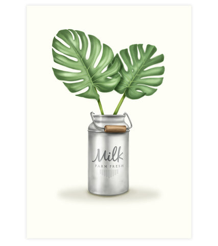 Monstera Leaves Print