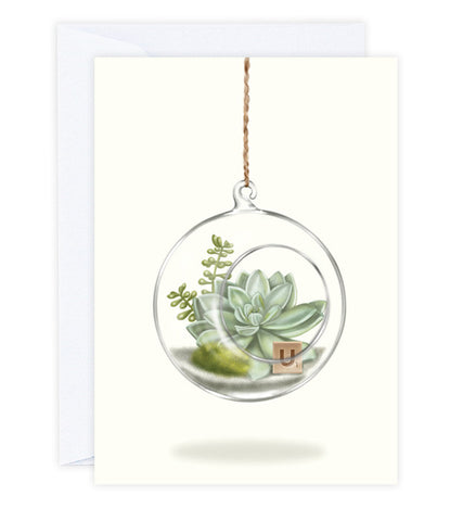 Terrarium Greeting Card